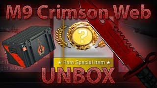 CS:GO M9 BAYONET CRIMSON WEB UNBOXING