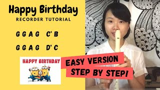 Happy Birthday Recorder Tutorial (How to play)