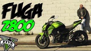 GTA V - FUGA DE Z800 Kawasaki | ( MC Menor Sv   ZMIL Nas Pista )