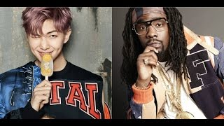 Rapper Wale and  BTS' Rap Monster finally met up!