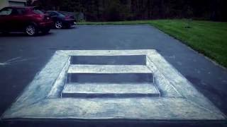 3D Chalk Art Staircase