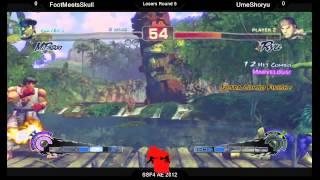 SSF4AE2012 - FootMeetsSkull (Bison) Vs UmeShoryu (Ryu)