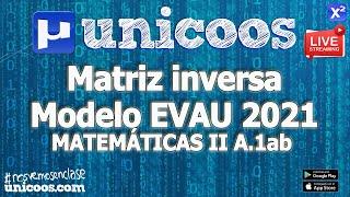 Imagen en miniatura para LIVE!!! Modelo EvAU 2021 - Matemáticas II 01 - Ejercicio A.1ab Matriz inversa