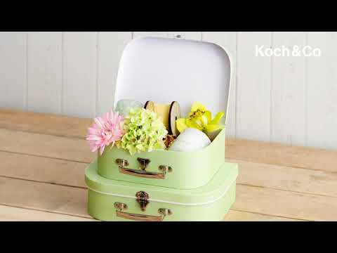 Suitcase Gift Box Baby Pink (30x20x9cmH) Set 2