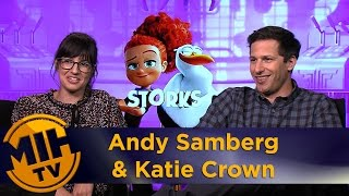 Katie Crown & Andy Samberg Storks Interview