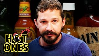 Shia LaBeouf Sheds a Tear While Eating Spicy Wings | Hot Ones