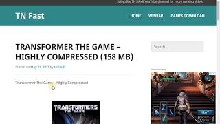 How To Download And Install Transformers The Game By HSA Studio For Pc Windows 7,8,10, width=