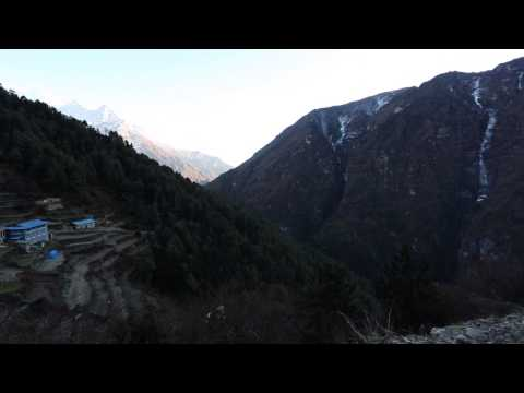 Hiking near Namche Bazar, Nepal