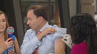 Jason And Kylie Get Flu Shots Live On Mid-Morning