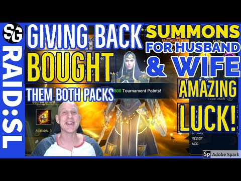 RAID SHADOW LEGENDS | AMAZING SUMMONS FOR A WIFE & HUSBAND | GIVING BACK | TWO ACCOUNTS