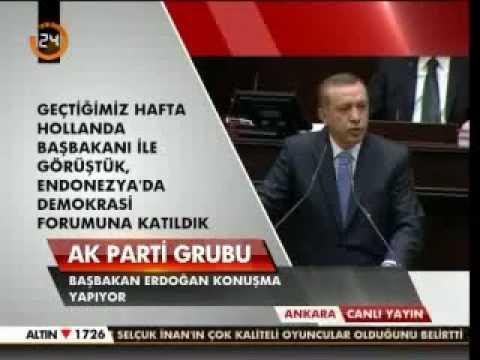 Başbakan Erdoğan. 13 Kasım 2012 TBMM Grup Toplantısı Konuşması.