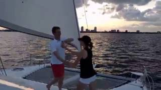 Lindy hoppin' on a 41 ft. Catamaran St. Pete Florida