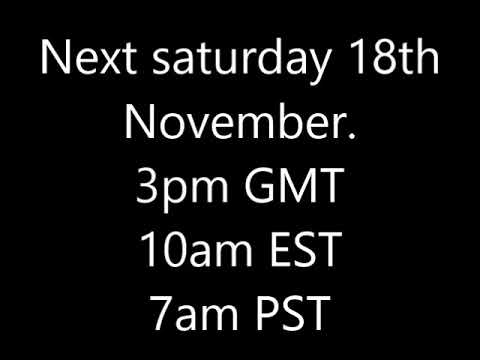 10k livestream next saturday (18 november)