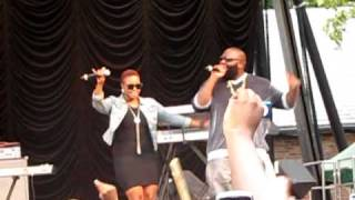 "Chrisette Michele and Rick Ross Singing ""Aston Martin Music"" at Central Park SummerStage"