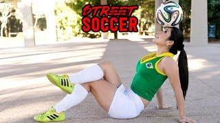 Raquel Benetti Beautiful Girl Street Soccer Skills Vine #6 | HD