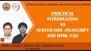 Module P4: Module P4: Practical: Introduciton to server-side javascript and HTML/CSS width=