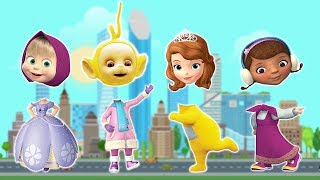 Wrong Heads Masha and the Bear Doc McStuffins Sofia the First Teletubbies Finger Family Song