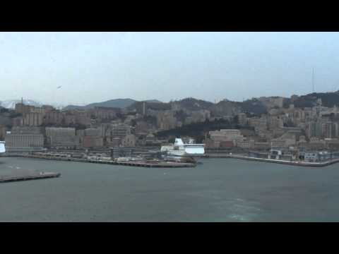 MSC Fantasia Cruise Ship ' departure from the port of Genova '