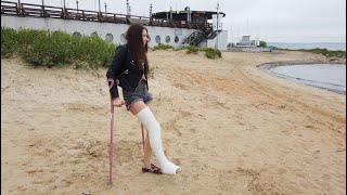 ALICE pretty girl LLC long leg plaster cast, Full leg