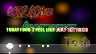 Bruno Mars - The Lazy Song - Lyrics / Karaoke