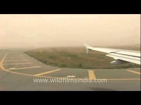 Flight from Delhi to Kathmandu on the runway…