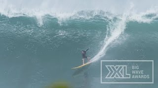 Silvia Nabuco at Waimea Bay - 2015 Billabong Ride of the Year Entry - XXL Big Wave Awards
