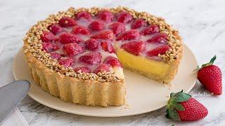Torta de Morango Tradicional c/ Creme Patissiere | Receita Sandra Dias