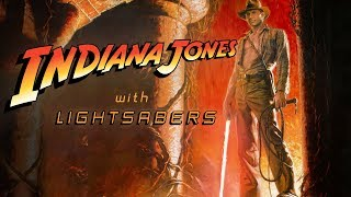 Indiana Jones with Lightsabers