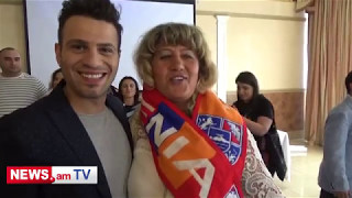 No comment. Armenian from Ukraine realized her dream by singing with Hovig