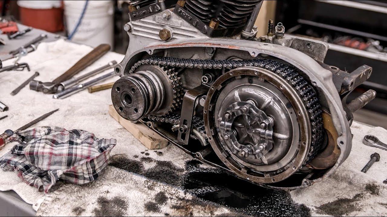 Harley-Davidson Ironhead V-Twin rebuild time lapse thumbnail