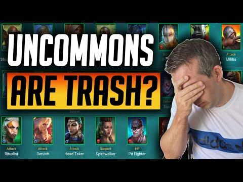 ARE ALL UNCOMMONS TRASH IN RAID?   Raid: Shadow Legends