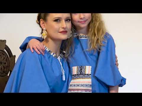 Rochie Bleu din Poplin cu Zadie