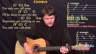 One Call Away (Charlie Puth) Strum Guitar Cover Lesson with Chords/Lyrics - Capo 1st