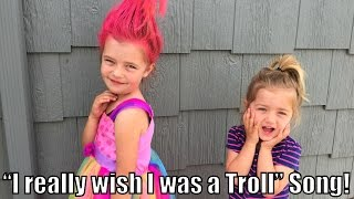 Magic jelly bean turns girl into a TROLL!  Kids Songs  Poppy in real life  Trolls movie