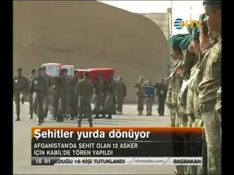 12 Şehidimiz Afganistan'dan böyle uğurlandı. Türk Askerinin Afganistan'da ne işi var?ABD?