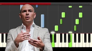 Pitbull J Balvin Hey Ma Camila Cabello piano midi tutorial sheet partitura cover app karaoke