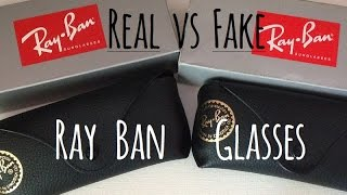 How to tell the difference between real and fake Ray Ban glasses(3025 Aviators)