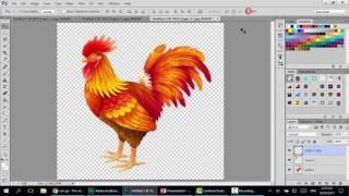 Adobe PhotoShop: Thiết kế ảnh động con gà mổ thóc đưa vào
