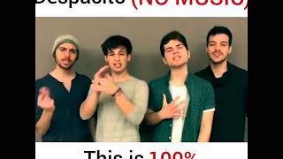 Despacito l Mash up l group song (cover) : no music
