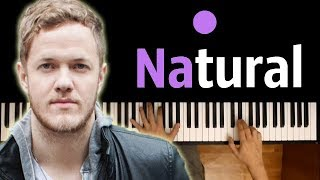 IMAGINE DRAGONS - NATURAL ● karaoke | PIANO_KARAOKE ● ᴴᴰ + SHEETS & MIDI