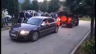 Audi A8 4.2 TDI vs Land Rover Defender - Tug of War 💪