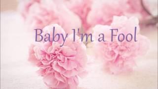 "Me singing ""Baby I'm a Fool"" by Melody Gardot (singing piano cover)"