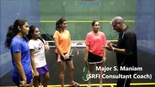 Major S. Maniam with the World JNR Women's Camp