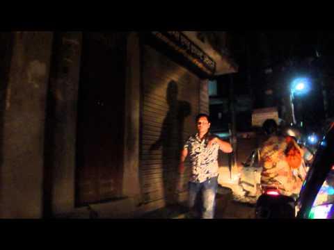 Kathmandu taxi ride by night Nepal