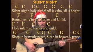 Silent Night (Christmas) Strum Guitar Cover Lesson with Lyrics Chords - Sing and Play