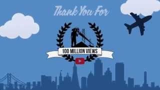 We just hit 100 million views on YouTube! Thank you!