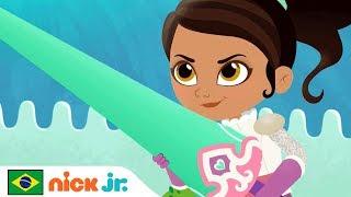 Nella, Uma Princesa Corajosa | Vídeo Musical 'Para o Alto Saltar' 🙂 | Nick Jr. | Brazil | Português