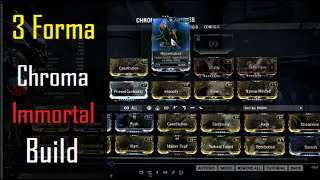 Warframe Builds - Immortal Chroma Build (3 Forma)