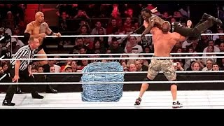 WWE -OMG John Cena &The Rock Vs The Miz & R Truth Crazy Match you must Watch Original HD 1/2/2017 width=