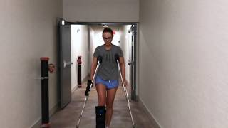 KALEE BROKEN ANKLE HURRICANE IRMA ON CRUTCHES!!!